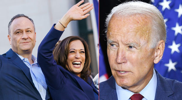 Joe Biden Refers to Kamala Harris' Husband as 'Kamala's Wife' - WATCH