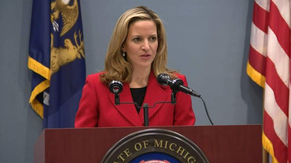 michigan secretary of state jocelyn benson  a democrat  attempted to dismiss the report as  inaccurate  incomplete  and misleading