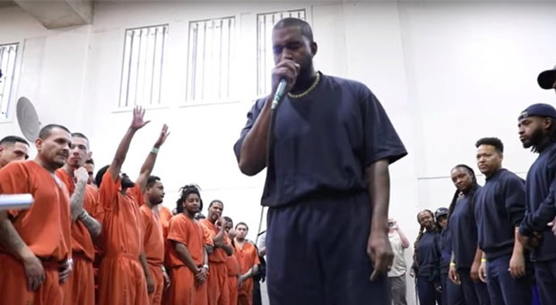 Atheists Implode Over Kanye West's Surprise Christian Service in Jail