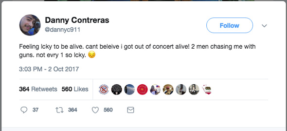 danny contreras twitter post was shared several times before he was killed