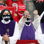 news thumbnail for  MAGA Nuns  Go Viral After Spotted in Trump s Rally Crowd