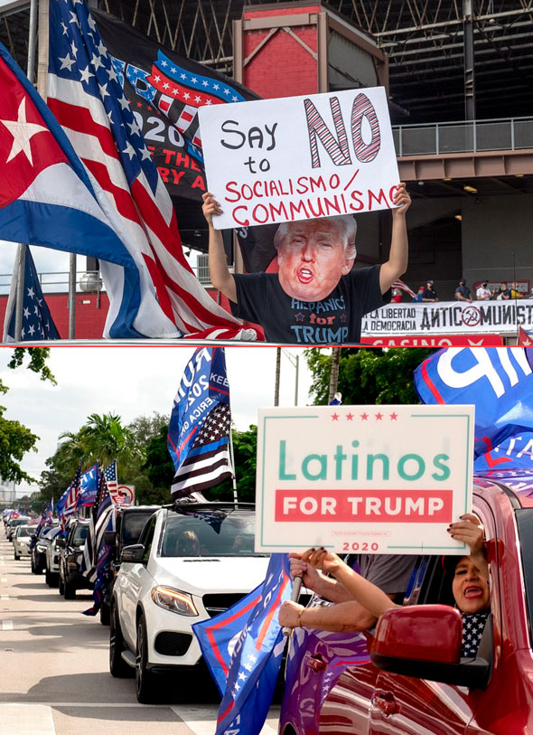 many at the parade expressed support for trump while rejecting communism