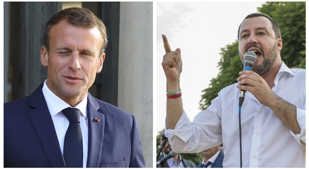 salvini has slams  french president emmanuel macron as  international embarrassment