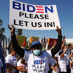 Migrants Wearing Joe Biden T-Shirts Flood US Border: 'Please Let Us In'