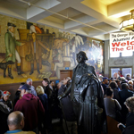 thumbnail for SF School Board Rules  Offensive  George Washington Mural To Be  Covered  Up