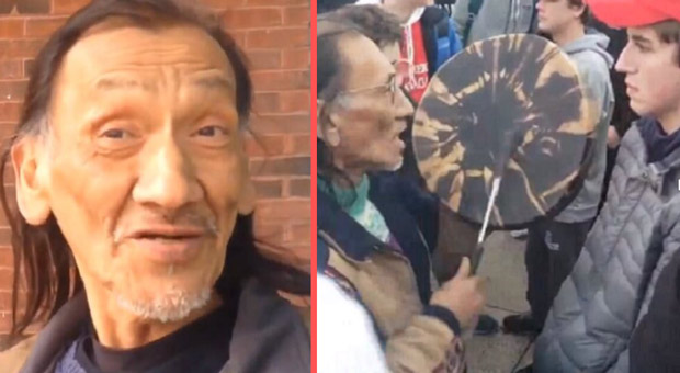 Native American Drummer Told Almost Identical Story 4 Years Ago