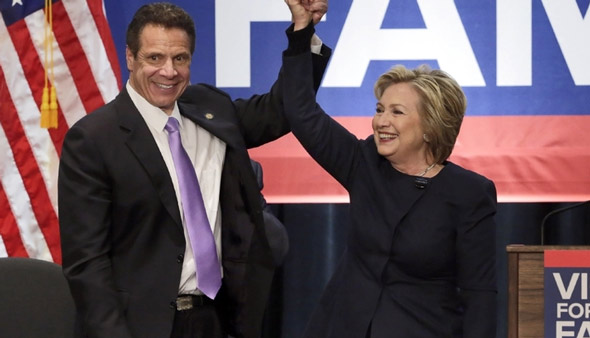 new york governor andrew cuomo has been campaigning for the new bill with hillary clinton
