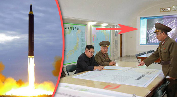 North Korea Has Released Images Of Kim Jong Un And His Military Advisors In Their War Room Plotting A Nuclear Attack Against The Us But Experts Believe