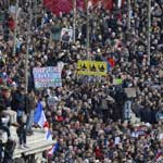 PARIS ERUPTS: Thousands Swarm Streets In rally Against Emmanuel Macron