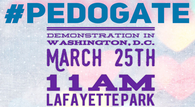 the pedogate protest will take place in washington dc this month