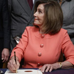 Pelosi Slammed for Gloating, Celebrating as House Delivers Trump Impeachment Articles