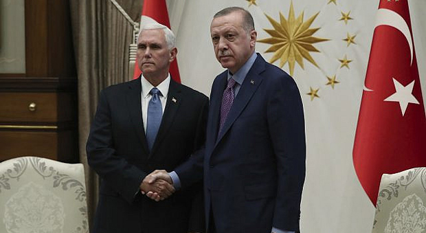 Pence, Pompeo Secure Syria Cease-Fire Agreement After Meeting with Turkish President