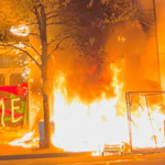 Portland Antifa Rioters Torch Apple Store, Fire Guns from Cars - WATCH