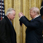 news thumbnail for Jon Voight Awarded National Medal of Arts by President Trump at White House