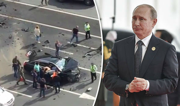 vladimir putin s car was involved in a head on collision that instantly killed his favourite driver