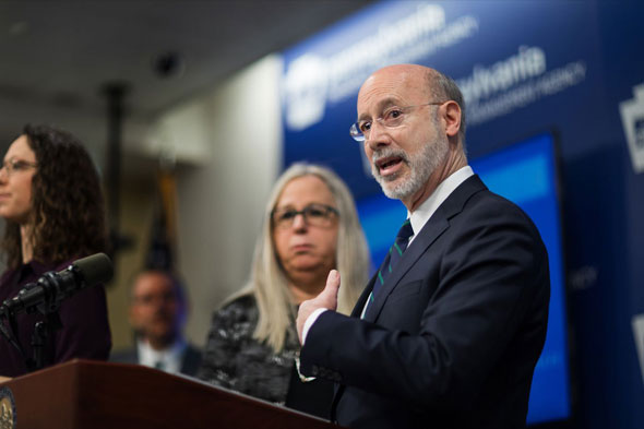 pennsylvania s anti trump governor tom wolf has been pushing for mail in voting
