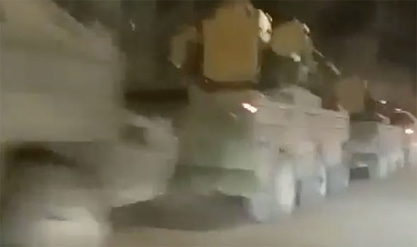 footage show military vehicles moving towards the north korean border