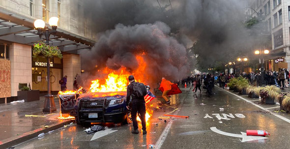 seattle has been ravaged by violent leftist rioting amid calls to abolish police