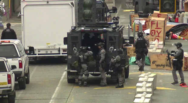 the news comes just two weeks after seattle police dismantled the leftist activist held capitol hill organized protest  chop  zone