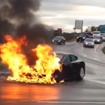Tesla Car 'Spontaneously Combusts' While Waiting In Traffic