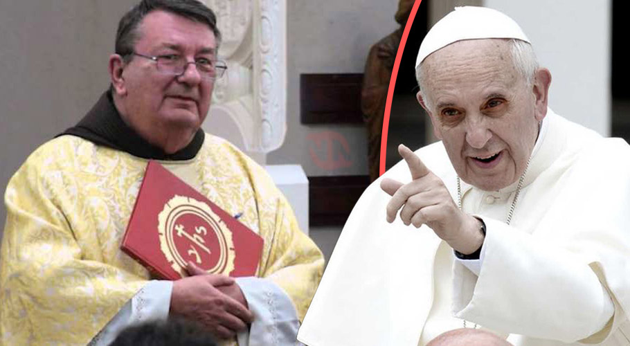 father thomas weinandy says god told him to warn people about  evil  pope francis