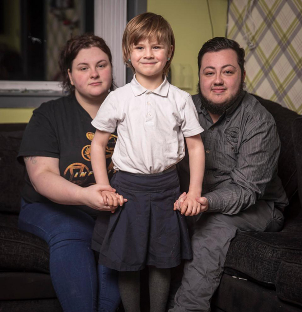 the couple claims they have been reported to social services for child abuse after announcing son s transition