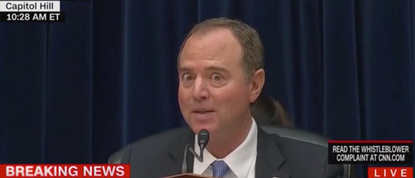 adam schiff read out fabricated statements from trump s conversation during a hearing that was televised before the american people