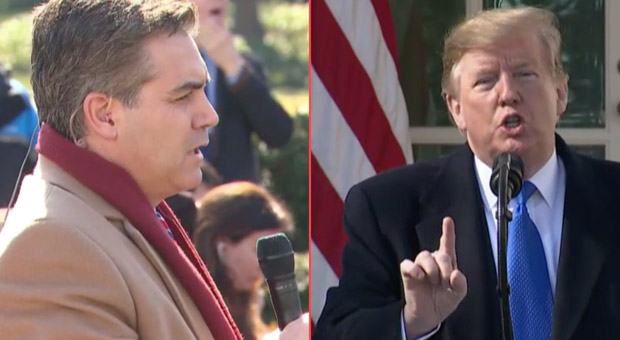 Trump Scolds CNN's Jim Acosta: 'You Have an Agenda - You're Fake News'