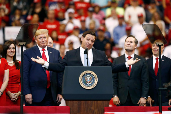 florida gov  ron desantis  r  has yet to comment on trump s remarks about the election