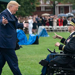 Trump Embraces Wheelchair-Bound Wounded Afghanistan Veteran