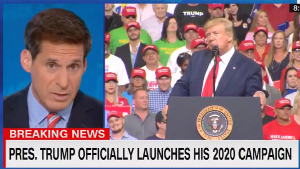 cnn s john berman cut off trump s rally  complaining that he was  attacking the media