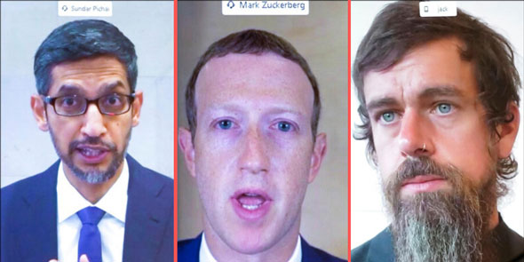 ceos of google  facebook  and twitter were recently called to testify on election interference