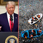 Trump Slams China for Dumping 'Millions of Tons of Plastic & Trash Into the Oceans'