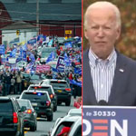 Trump Supporters Crash Biden 'Rally' Chanting '4 More Years,' Shut Down Event