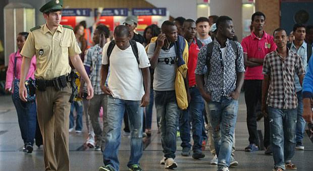 Image result for U.N. 'Refugee Resettlement' flights from Africa begin landing in Germany