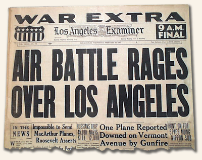 the 73rd anniversary of the battle of los angeles otherwise known as the great la air raid