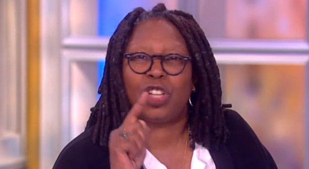 far left host of the view  whoopi goldberg  has spread various anti trump conspiracy theories about coronavirus