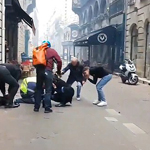 Yellow Vest Fireman Protester Shot in the Back of Head By Police