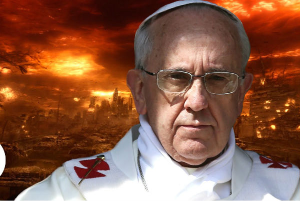 the pope is running around the planet making an impassioned call for a    new economic and ecological world order