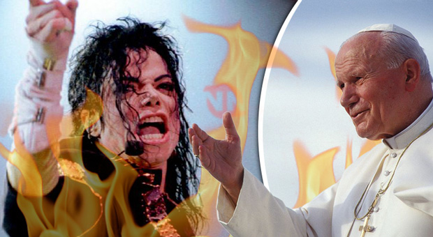 woman claims she died for 23 and met micheal jacket and the pope in hell