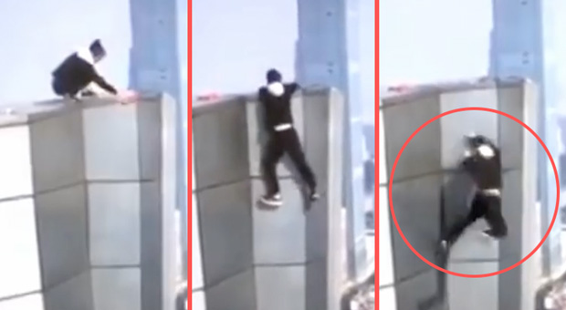Video Of Chinese Daredevil Falling To Death From
